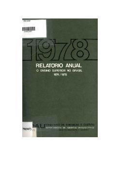 Relatório anula: o ensino superior no Brasil - 1974/1978