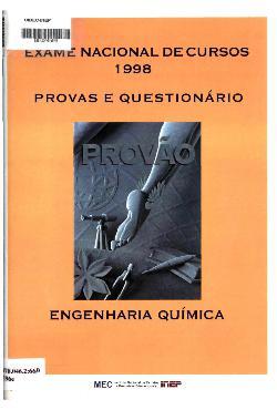 Exame Nacional de Cursos - 1998: provas e questionário, En ...