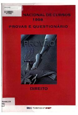 Exame Nacional de Cursos - 1998: provas e questionário, di ...