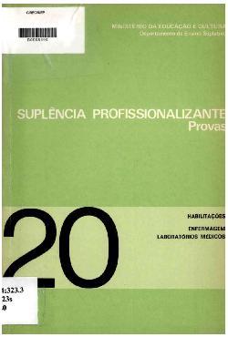 Suplência profissionalizante: provas - habilitações em enf ...