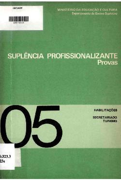 Suplência profissionalizante: provas - habilitações em sec ...