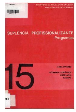 Suplência profissionalizante: programas - habilitaçãos em  ...