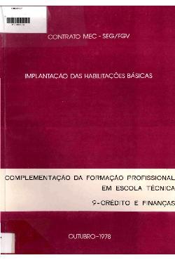 Implantação das habilitações básicas: complementação da fo ...