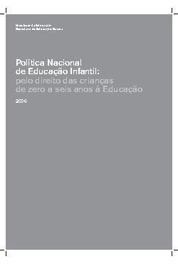 Política Nacional de Educação Infantil : pelo direito das  ...