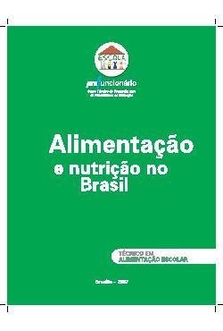 Alimentação e nutrição no Brasil - Profuncionário