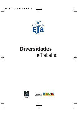 Coleção cadernos de EJA: diversidades e trabalho