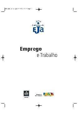 Coleção cadernos de EJA: emprego e trabalho