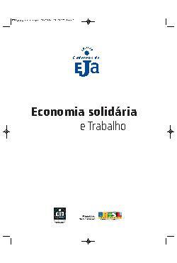 Coleção cadernos de EJA: economia solidária e trabalho