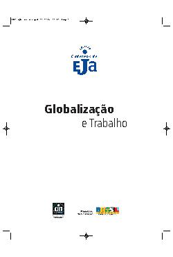 Coleção cadernos de EJA: globalização e trabalho