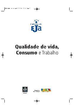 Coleção cadernos de EJA: qualidade de vida, consumo e trabal[..]