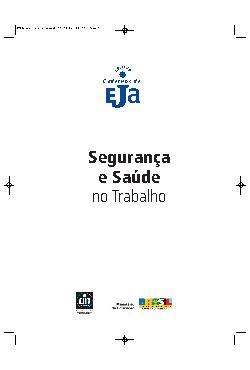 Coleção cadernos de EJA: segurança e saúde no trabalho