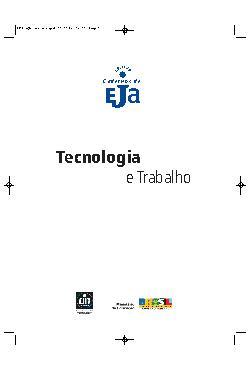 Coleção cadernos de EJA: tecnologia e trabalho