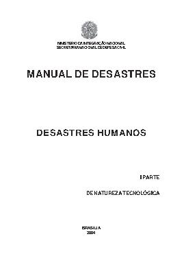 Manual de desastres: desastres humanos: de natureza tecnol ...