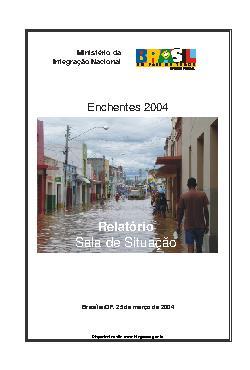 Enchentes 2004: relatório sala de situação