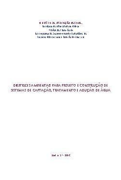 Diretrizes ambientais para projeto e construção de sistema ...
