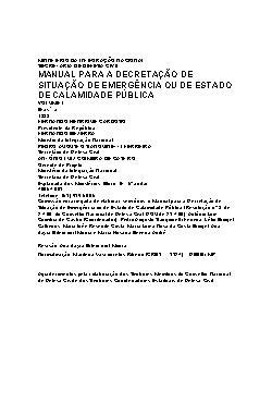 Manual para decretação de situação de emergência ou estado ...