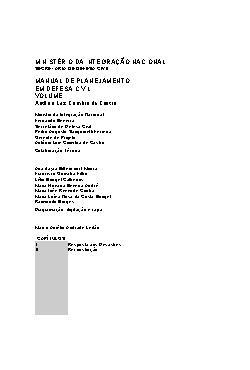 Manual de planejamento em defesa civil: volume II