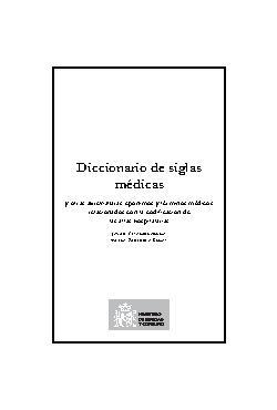 Diccionario de Siglas Médicas