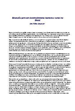 Educação para um desenvolvimento humano e socialno Brasil
