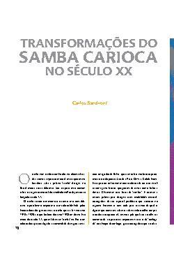 Transformações do samba carioca no sécul