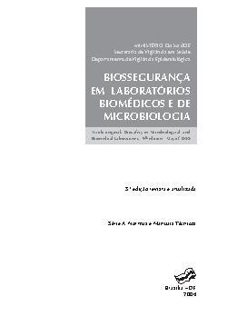 Biossegurança em laboratórios biomédicos e de microbiologia