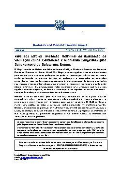 Avaliação preliminar da associação da vacinação contra car ...