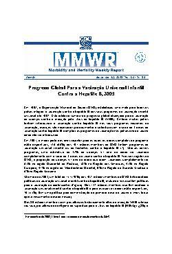 Progresso global para a vacinação universal infantil contr ...
