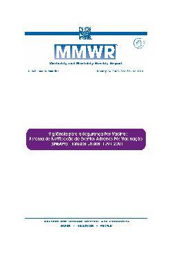 Vigilância para a segurança pós-vacinal: sistema de notifi ...