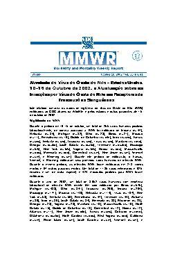 Atividade do Vírus do Oeste do Nilo   Estados Unidos, 10 - ...