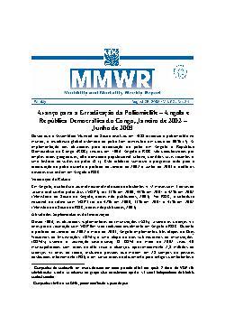 Avanço para a erradicação da poliomielite  Angola e Repúbl ...