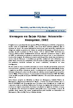 Mensagem em saúde pública: poliomielite - Madagascar, 2002