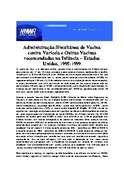 Administração simultânea de vacina contra varicela e outra ...