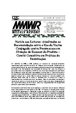Atualizadas as recomendação sobre o uso da vacina conjugad ...
