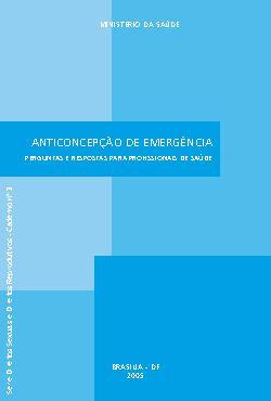 Anticoncepção de emergência: perguntas e respostas para pr ...