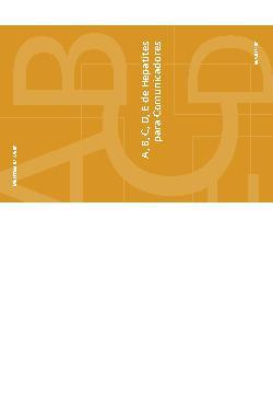 A, B, C, D, E de hepatites para comunicadores