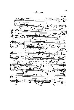 <font size=+0.1 >Rêverie - partitura</font>