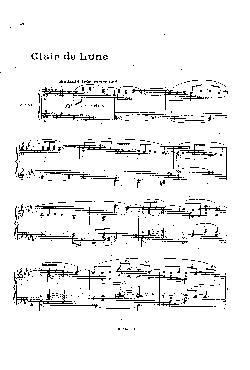 Clair de lune - partitura