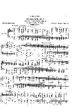 Balada: Op. 10, nº 1 em Ré menor - partitura