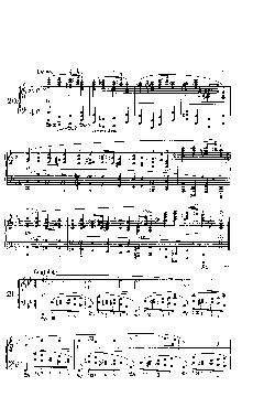 Prelúdio Opus 28 nº 21 em Si Bemol Maior - partitura