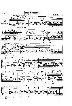 Noturno nº 4 em Fá Maior: Opus 15 nº 1 - partitura
