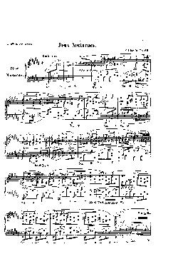Noturno nº 17 em Si Maior: Opus 62 nº 1 - partitura