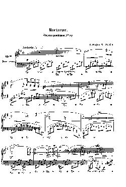 Noturno nº 19 em Mi menor: Opus post. 72 nº 1 - partitura