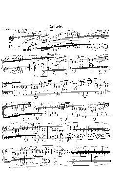 Balada: Opus 23, nº 1 em Sol menor - partitura