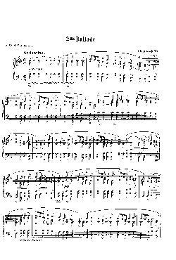 Balada: Opus 38, nº 2 em Fá Maior - partitura