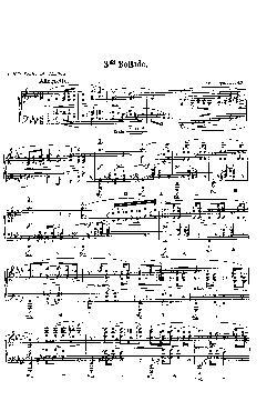 Balada: Opus 47, nº 3 em Lá Bemol Maior - partitura