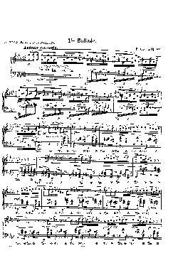Balada: Opus 52, nº 4 em Fá menor - partitura