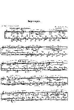 Improviso: Opus 29, nº 1 em Lá Bemol Maior: partitura