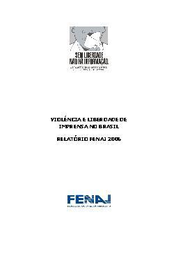 Violência e liberdade de imprensa no Brasil. Relatório FEN ...