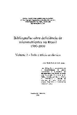 Bibliografia sobre deficiência de micronutrientes no Brasi ...