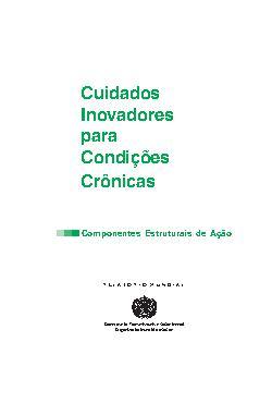 Cuidados Inovadores para Condições Crônicas - Componentes  ...